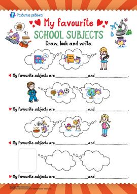 Любимые школьные предметы (английский язык)