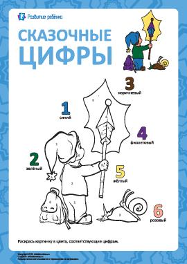 Сказочная раскраска по цифрам №3