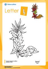 Раскраска «Английский алфавит»: буква «L» – Развитие ребенка