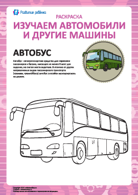 Раскраска машин: автобус