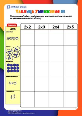 Изучаем таблицу умножения: №1
