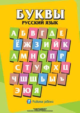 Написание букв русского алфавита