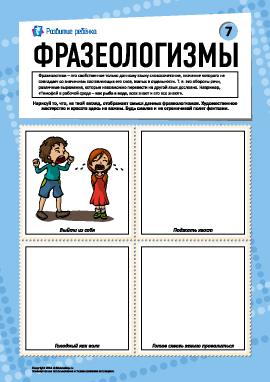 Фразеологизмы № 7 (русский язык)