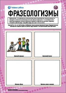 Фразеологизмы № 12 (русский язык)