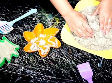 Кинетический (живой, лунный) песок своими руками