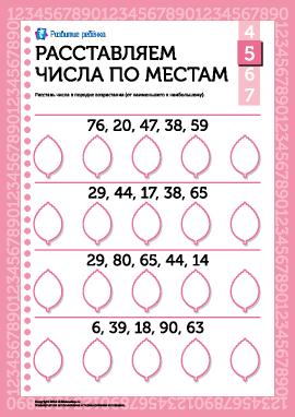 Расставляем числа по местам №5