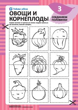 Соединяем половинки овощей и корнеплодов №3