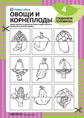 Соединяем половинки овощей и корнеплодов №4
