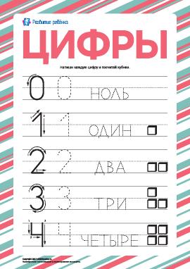 «Цифры»: тренируемся писать по пунктиру