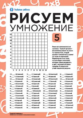 Рисуем с помощью таблицы умножения: арбуз