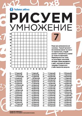 Рисуем с помощью таблицы умножения: клубника