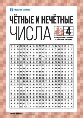 Учим четные и нечетные числа № 4
