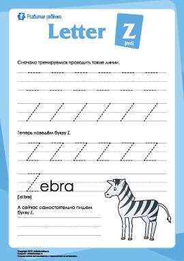 Английский алфавит: написание буквы «Z»