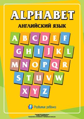 Написание букв английского алфавита