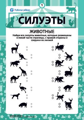 «Силуэты»: соединяем тени № 1 - Животные