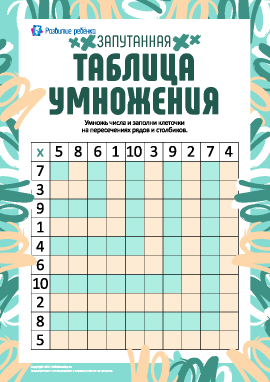 Запутанная таблица умножения