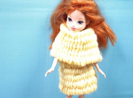 Вяжем шарф для игрушки: урок детского рукоделия