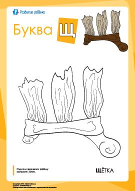Раскраска «Русский алфавит»: буква «Щ»