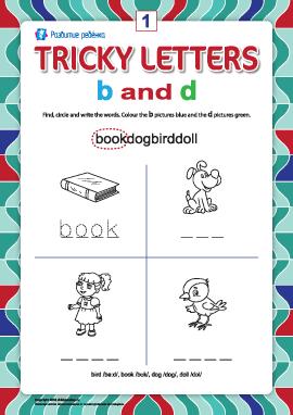 Пишем правильно английские буквы № 1 (b и d)