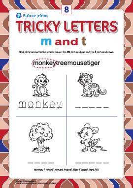 Пишем правильно английские буквы № 8 (m и t)