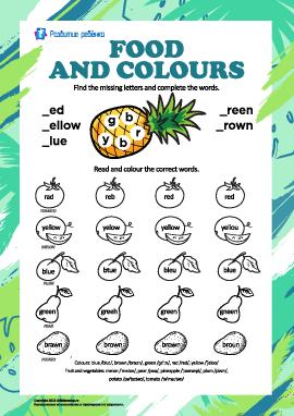 Названия цветов на английском: еда