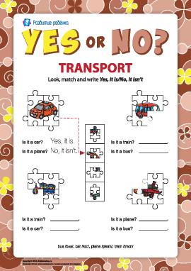 Утверждение и отрицание в английском языке. Транспорт №8