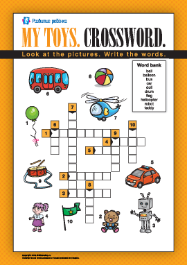 Кроссворд на английском «Мои игрушки»