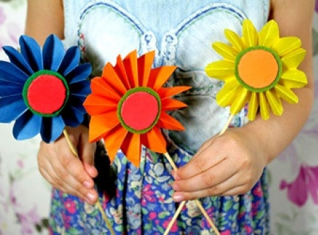 Десять способов создать цветы из бумаги