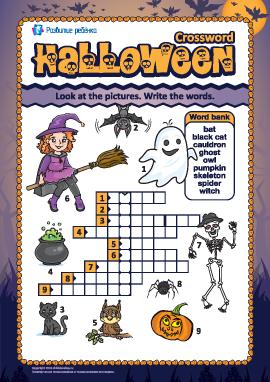 Кроссворд на английском «Хеллоуин»