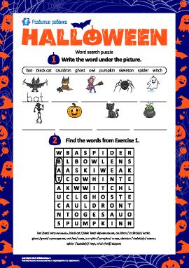 Тематическая головоломка: «Хеллоуин» (на английском языке)