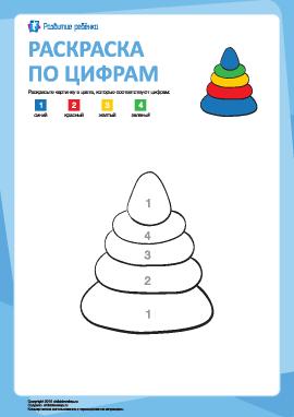 Раскраска по цифрам: игрушка