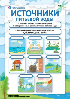 Источники питьевой воды