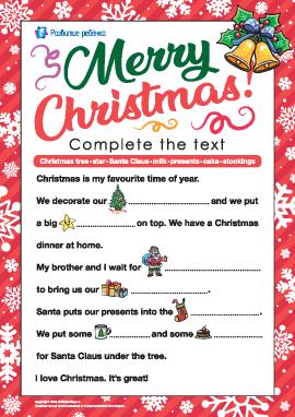 Развиваем навыки чтения на английском языке: празднование Рождества