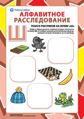 Ищем названия рисунков на букву «Ш» (русский алфавит)
