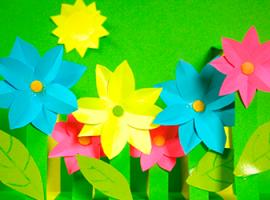 Цветущее поле - 3D-аппликация для детей