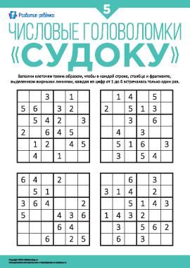 Числовые головоломки «Судоку» №5