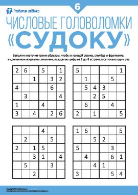 Числовые головоломки «Судоку» №6