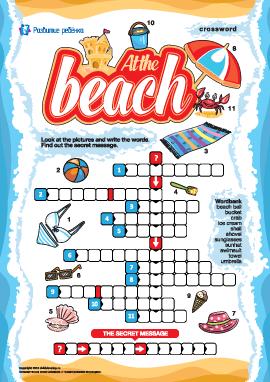 Кроссворд на английском «На пляже»