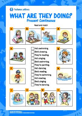 Изучаем Present Continuous (английский язык)