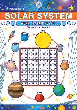 Головоломка «Планеты Солнечной системы» (английский язык)