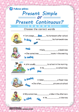 Различаем Present Simple и Present Continuous (английский язык)
