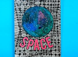 Часть космического пространства на бумаге