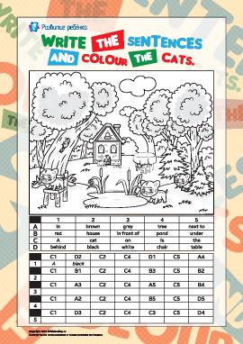 Раскрашиваем котов (английский язык)