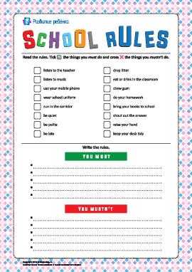 Правила поведения в школе (на английском языке)