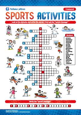 Кроссворд на английском «Виды спорта»