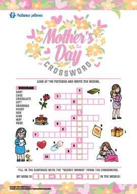 Кроссворд на английском «День матери»