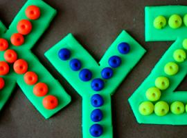 Азбука: объединим свойства лего и пластилина