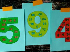 Произведение чисел: раскраска и повторение