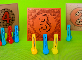 Тренировка на соответствие цифр и предметов