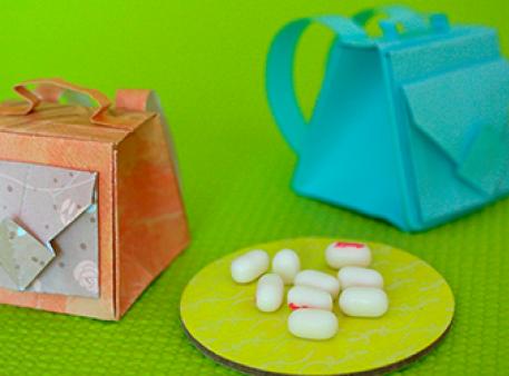 Сувенирные рюкзаки для друзей в технике оригами